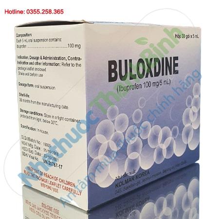 Buloxdine 100mg/5ml - Giảm đau hạ sốt