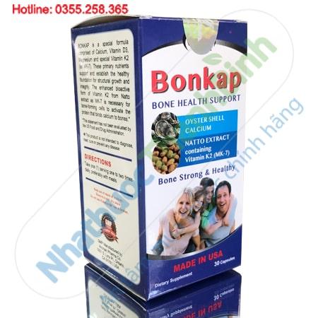 Bonkap - Viên uống bổ sung canxi giúp xương chắc khỏe