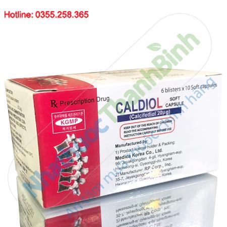 Thuốc Caldiol phòng ngừa và điều trị bệnh còi xương, loãng xương