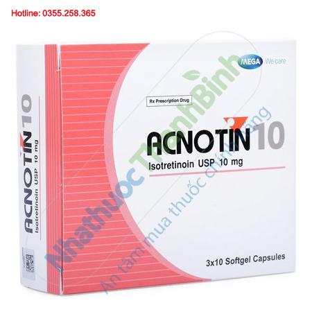 Acnotin 10 - Thuốc trị mụn trứng cá