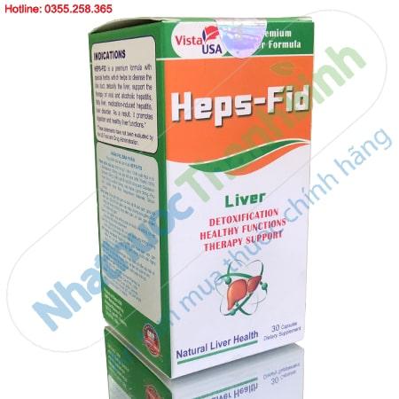 Heps Fid hỗ trợ giải độc gan, tăng cường chức năng gan