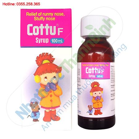 Thuốc Cottu F điều trị viêm mũi dị ứng ở trẻ em