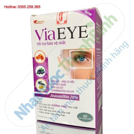 Viên uống bổ mắt VIA EYE hỗ trợ cải thiện thị lực