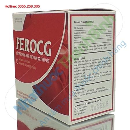 Ferocg hỗ trợ phòng ngừa thiếu máu do thiếu sắt