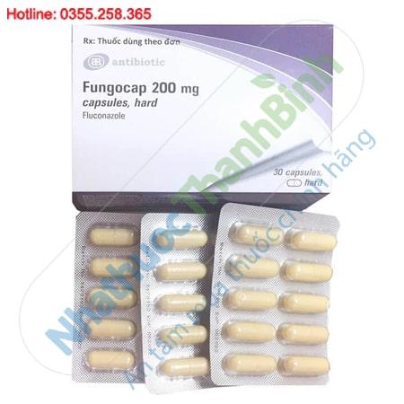 Thuốc Fungocap 200mg capsules, hard điều trị nấm