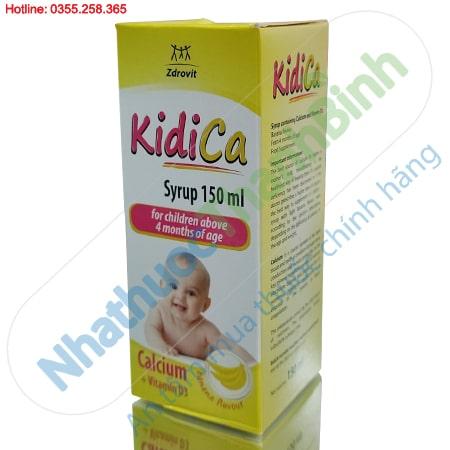SiroKidiCa bổ sung canxi và vitamin D3 cho trẻ