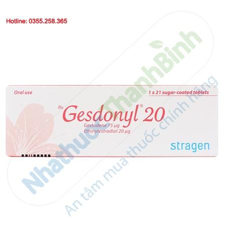 Thuốc tránh thai hàng ngày Gesdonyl 20 hộp 21 viên