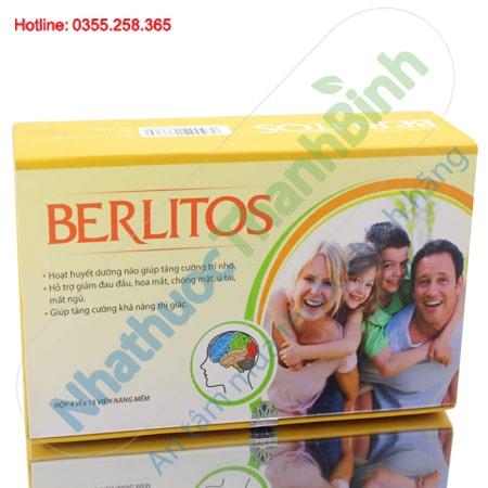 Berlitos hoạt huyết dưỡng não, cải thiện trí nhớ