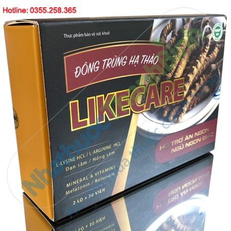 Like Care 2 lọ x 30 viên - Đông trùng hạ thảo hỗ trợ ăn ngon ngủ tốt