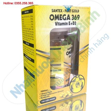 Omega 369 Santex Fort Gold Hỗ trợ sáng mắt giảm bệnh tim mạch