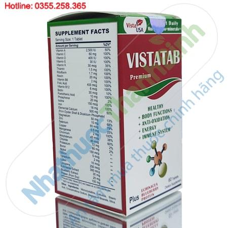 Vistatab bổ sung vitamin và khoáng chất thiết yếu cho cơ thể