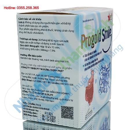 Progold Smile bổ sung lợi khuẩn, hỗ trợ tăng cường tiêu hóa