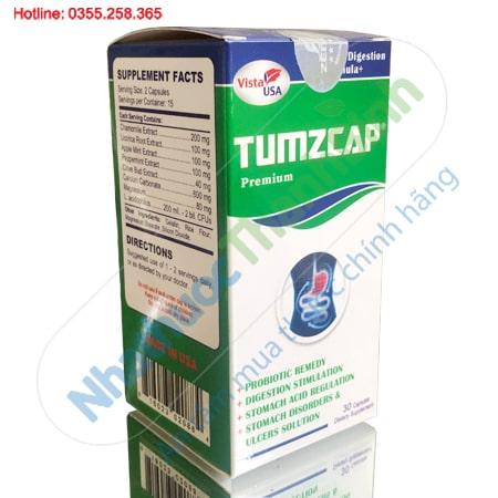 Tumzcap hỗ trợ điều trị viêm loét dạ dày, tá tràng, kháng khuẩn HP