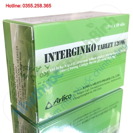 ThuốcInterginko Tablet 120mg Hàn Quốc
