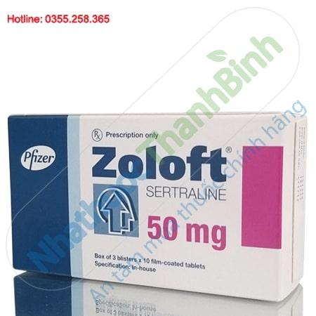 Thuốc Zoloft 50mg - Điều trị bệnh trầm cảm